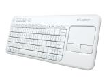 Clavier LOGITECH sans fil Touch Keyboard K400 Plus – blanc