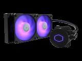 COOLER MASTER MasterLiquid ML240L V2 RGB – Watercooling, ventilateur 2 x 120 mm PWM, alu